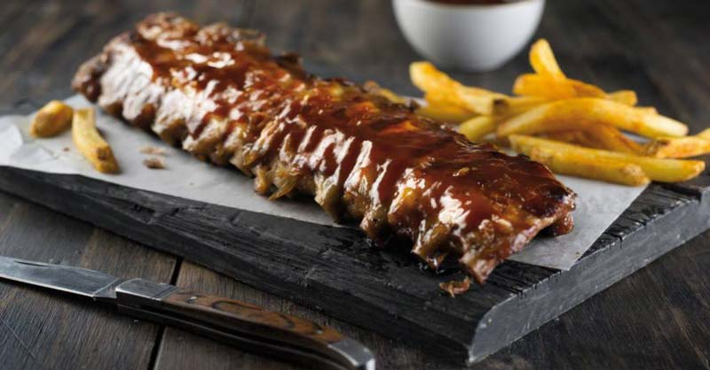 Costillas de res al horno