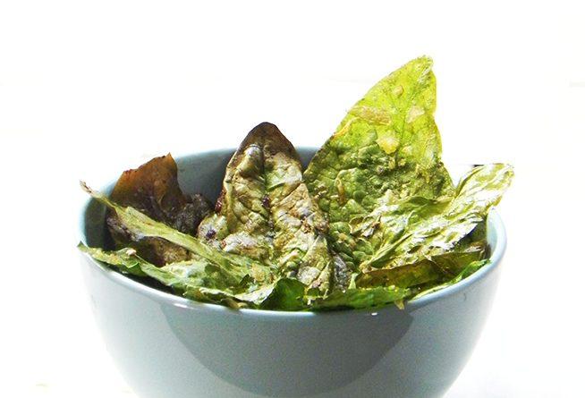 Chips de Espinacas al horno