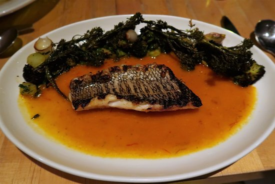 Black Bass a la plancha