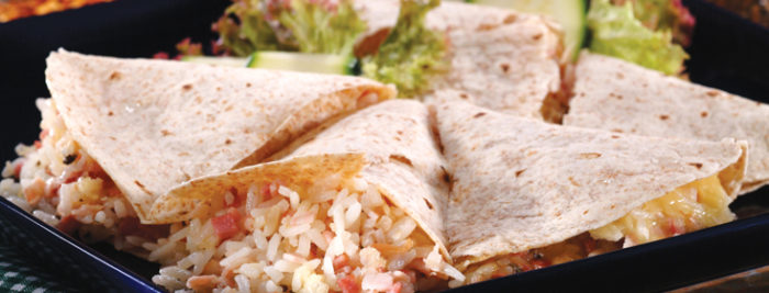 Quesadillas de arroz